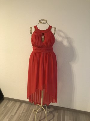 Jake*s High Low Dress bright red