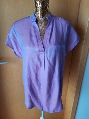 Sheinside Short Sleeved Blouse blue violet-lilac