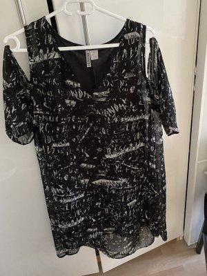 H&M Divided Tunic Blouse white-black