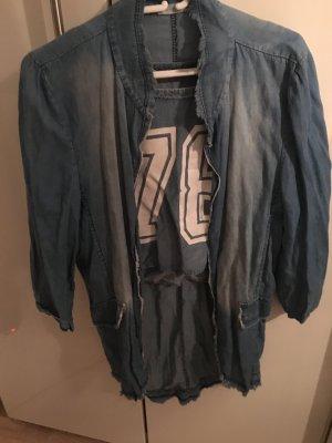 Made in Italy Blazer in jeans azzurro