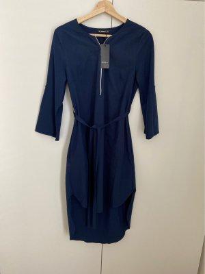 Sheilay Robe bas asymétrique bleu foncé