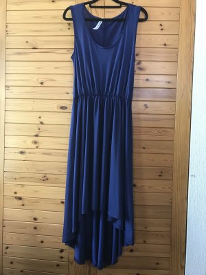 Robe bas asymétrique bleu