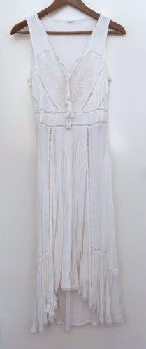Robe bas asymétrique blanc cassé