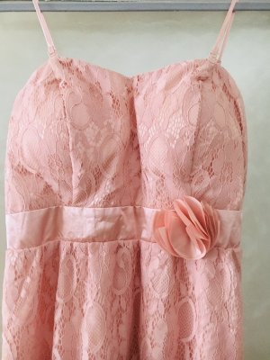 Vokuhila Kleid / Abendkleid / Ballkleid in Rosé