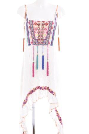 Robe bas asymétrique multicolore