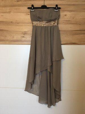 Asymetryczna sukienka szaro-brązowy