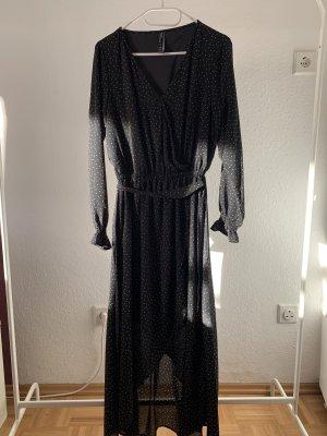 Jean Pascale High Low Dress black-white