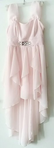 Bodyflirt High Low Dress light pink polyester