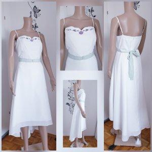 Ohne Robe bas asymétrique blanc tissu mixte