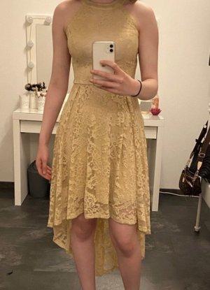 Dressystar Vestido mullet beige