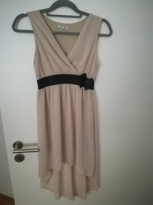 Asymetryczna sukienka piaskowy brąz