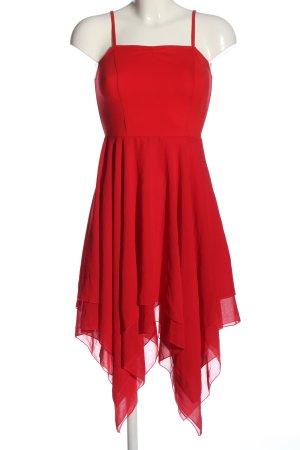 Robe bas asymétrique rouge élégant