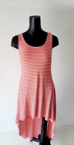 Soprano Asymetryczna sukienka biały-jasnoczerwony