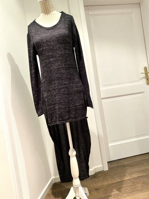 Zara Knit Lange jumper zwart-grijs