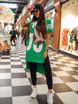 Vokuhila Shirt Bluse Tunika Sweater Longshirt Miss City NEU S M L