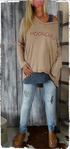 Vestito vokuhila marrone chiaro Cotone