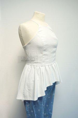 ally Peplum Top white