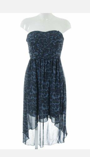Vila High Low Dress black-blue