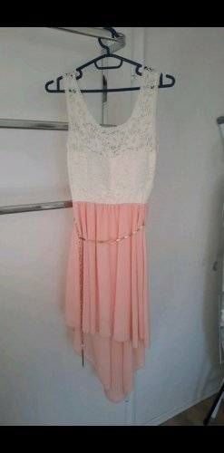 keine Marke High Low Dress white-apricot