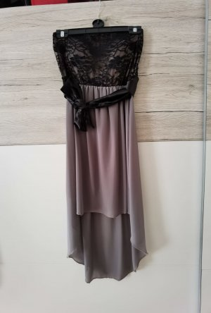 Robe bas asymétrique noir-brun
