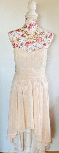 Swing Vestito vokuhila rosa pallido-bianco