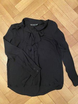 Zara Trafaluc Camicetta con arricciature nero