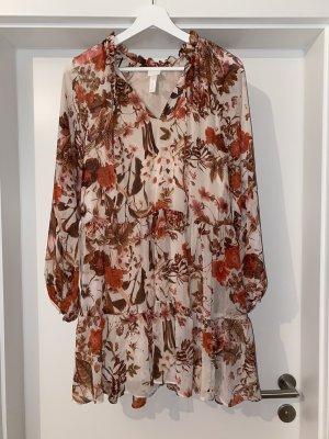 H&M Vestido de chifón multicolor Viscosa