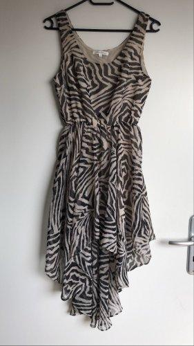 Volant Kleid in Zebramuster