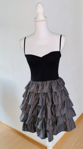 H&M Flounce Dress black-grey