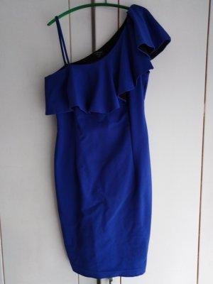 Reserved Sukienka na jedno ramię niebieski