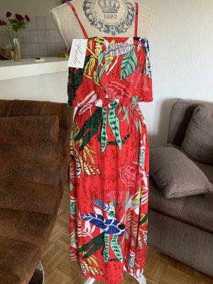 Sukienka z falbanami Wielokolorowy