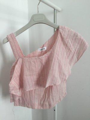 Edited Haut avec une épaule dénudée rose clair-crème