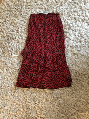Asos Spódnica z falbanami czerwony