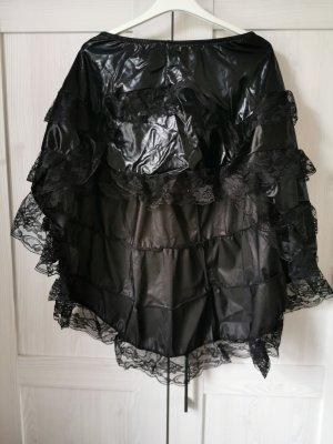 Warstwowa spódnica czarny