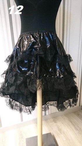 Jupe à volants noir tissu mixte