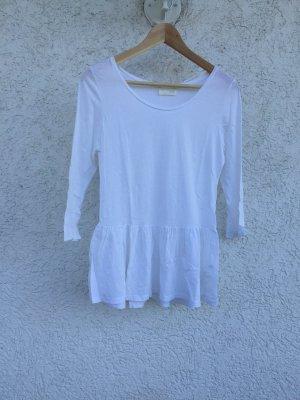 Volant Shirt weiß neuwertig ZARA Größe M