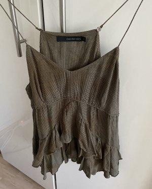 Calvin Klein Volanten top grijs-bruin-groen-grijs