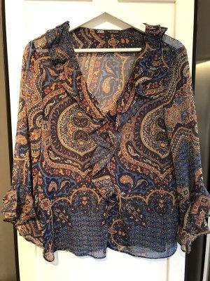 Volant Zara Bluse mit orientalischem Muster   XS