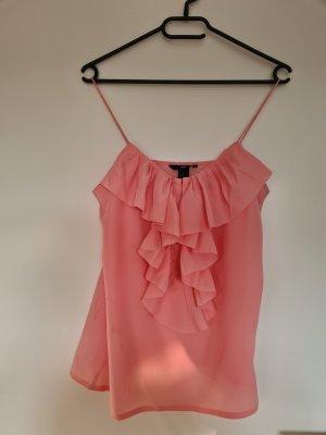 H&M Haut à volants rosé