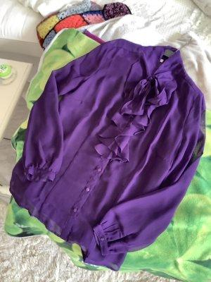 s.Oliver Blouse avec noeuds violet