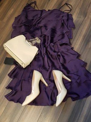 Sienna Vestido estilo flounce violeta oscuro