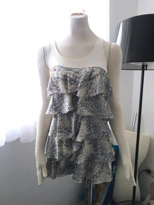 Volantkleid, Kleid Volants, Größe XS - 34 H&M aus Viscose, Kleid, Sommer Blogger