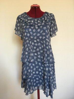 Sukienka z falbanami niebieski