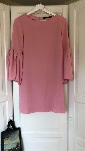 Zara Vestido estilo flounce rosa