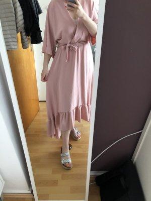 Italy Moda Sukienka z falbanami różany-stary róż