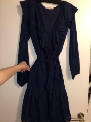 Michael Kors Flounce Dress dark blue