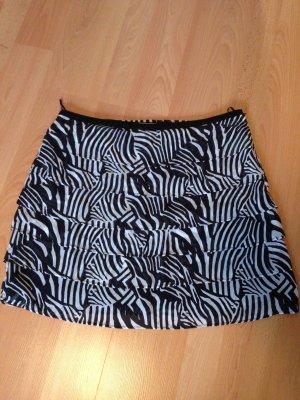 H&M Spódnica z falbanami biały-czarny