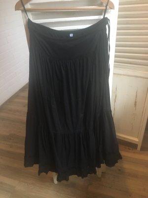 Volanten rok zwart