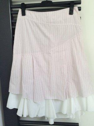 Promod Spódnica z falbanami biały-różowy neonowy