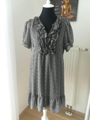 H&M Sukienka z falbanami antracyt